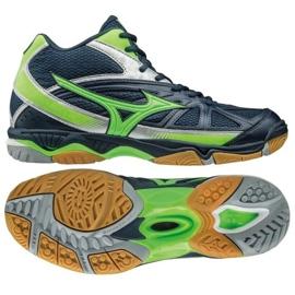 Mizuno Wave Hurricane 2 Mid M V1GA164536 volleyball shoes navy navy blue