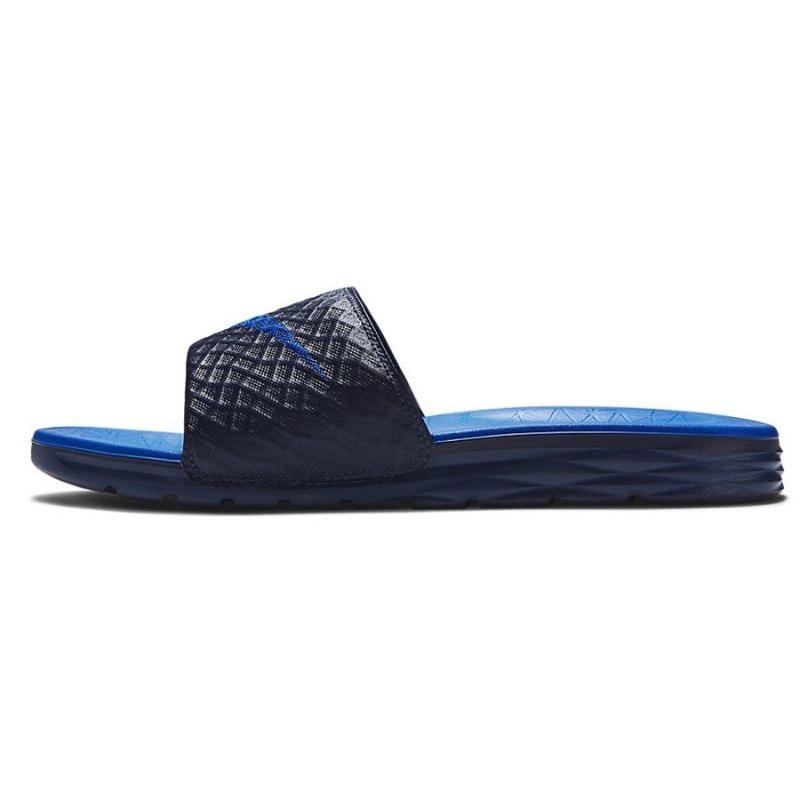 best sneakers 56efd ba126 Black Slippers Nike Benassi Solarsoft Slide 705474-440