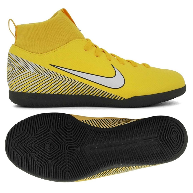 Indoor shoes Nike Mercurial SuperflyX 6 Club Neymar Ic Jr AO2891-710 multicolored yellow