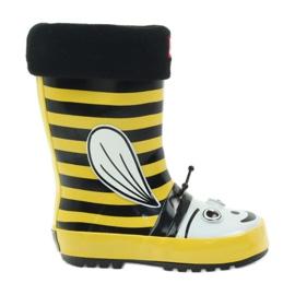 American Club American rubber boots children sock insole black yellow