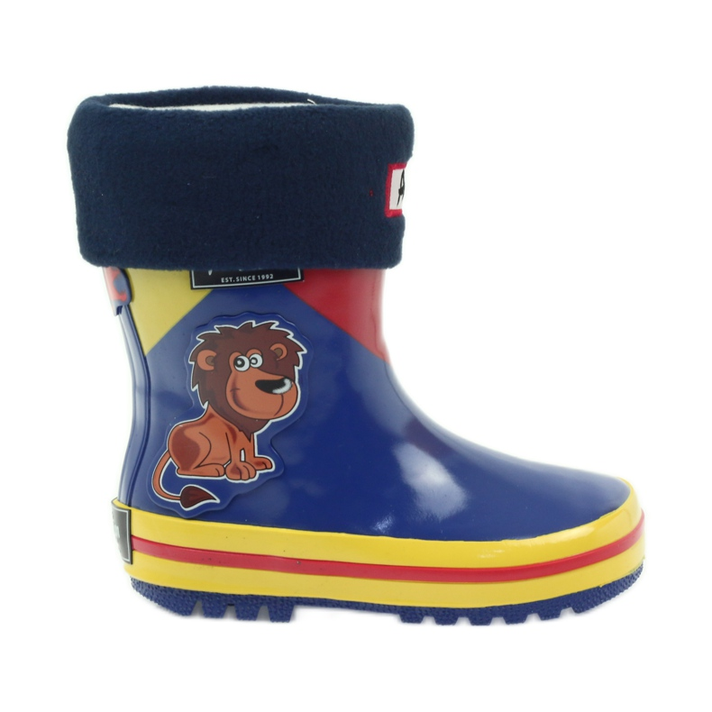 American Club American rubber boots children sock insole brown blue yellow red
