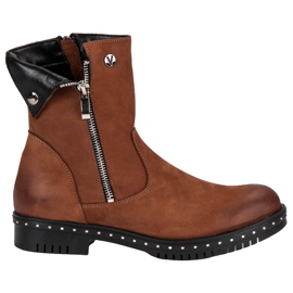 Brown Leather Boots from VINCEZA