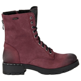 Lace-up boots from VINCEZA Workers red