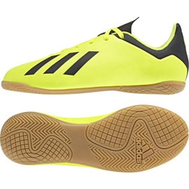 Adidas X Tango 18.4 In Jr DB2433 football shoes yellow yellow