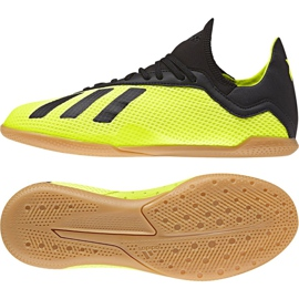 Indoor shoes adidas X Tango 18.3 In Jr DB2426 yellow yellow