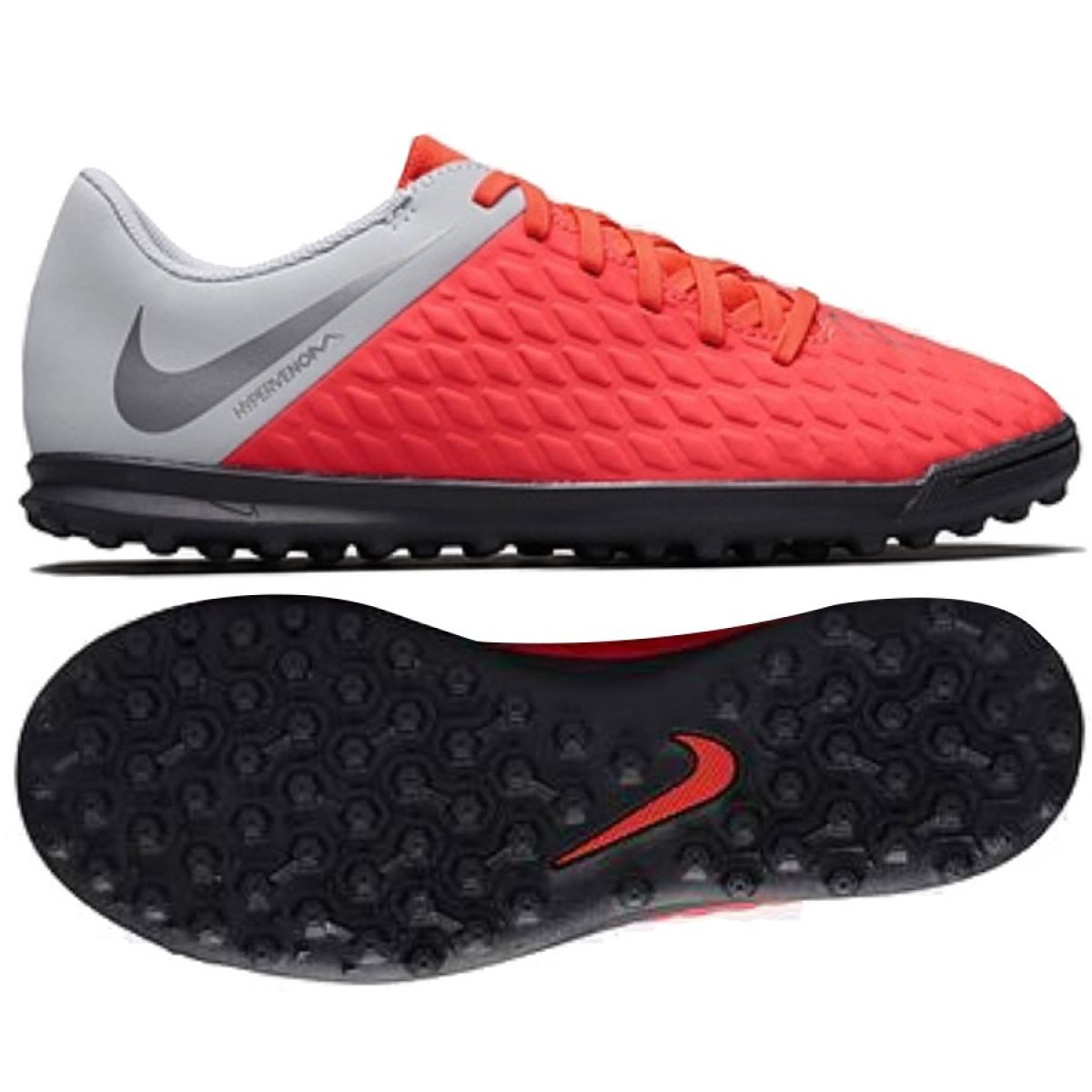 reputable site 32272 deec4 Nike Hypervenom Phantomx 3 Club Tf Jr AJ3790-600 Football Boots