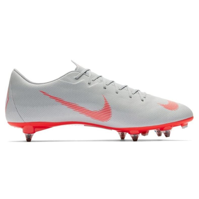Nike Mercurial Vapor 12 Academy Sg Pro M AH7376-060 Football Shoes grey multicolored