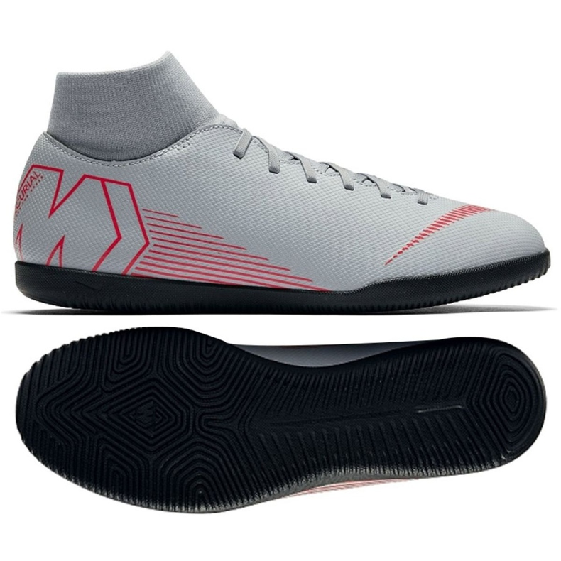 Indoor shoes Nike Mercurial Superfly 6 Club Ic M AH7371-060 white multicolored