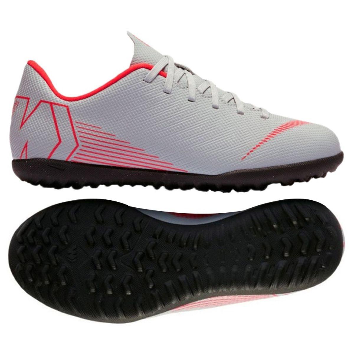 atravesar Normalización yermo  Nike Mercurial VaporX 12 club football shoes Tf Gs Jr AH7355-060 white  multicolored - ButyModne.pl