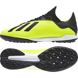 Football boots adidas X Tango 18.3 Tf M DB2475 multicolored yellow