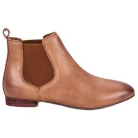 Women's Leather Jodhpur boots brown