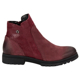 Comfortable Leather VINCEZA boots red