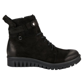 Black boots from VINCEZA Workers