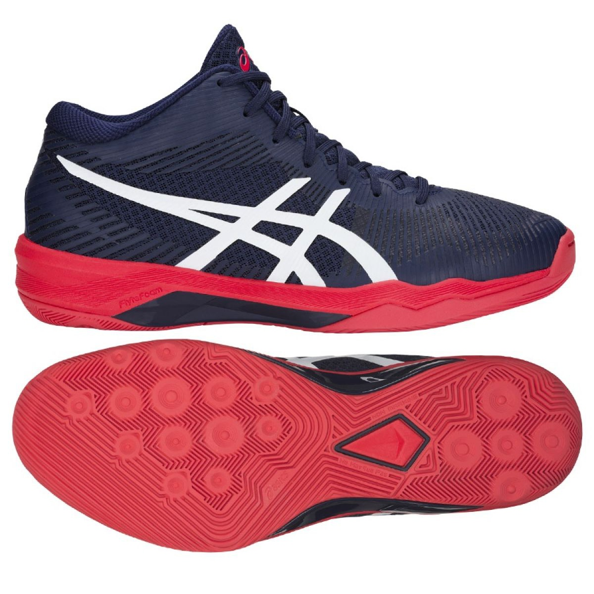 Volleyball shoes Asics Volley Elite Ff Mt M B700N-400 navy navy