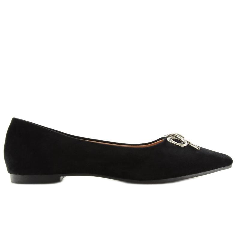 Black lace ballet shoes LT103P Black