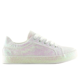 Opalescent white sneakers BL142 White