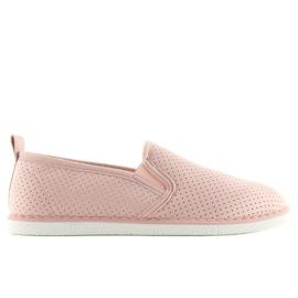 Pink slip-on sneakers LA08P Nude