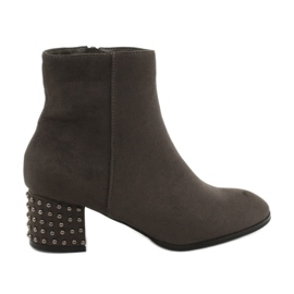 Boots high heel Filippo 540 gray grey