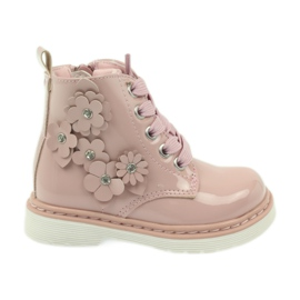 American Club pink American ankle boots boots children's shoes 1424