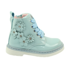 American Club American ankle boots boots children's shoes 1424 blue