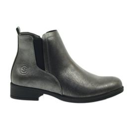 Antique silver boots Sergio Leone 553 grey
