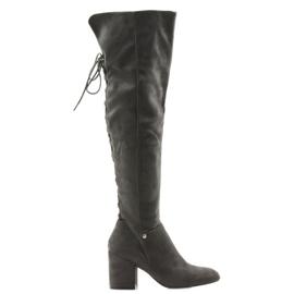 High-heeled gray boots Big Star 274519 grey