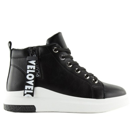 Ankle-high sneakers black A29 Black