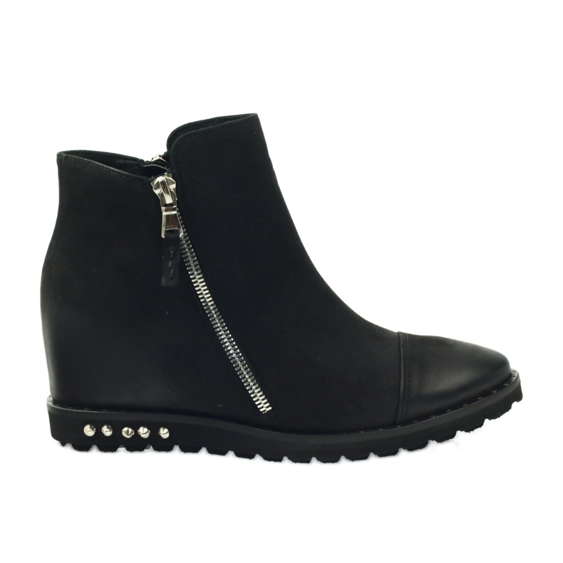 Ankle boots wedge black Edeo 3137