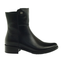 Boots high Arka 7330 black with zipper