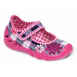 Pink Befado black children's footwear komf. up to 23 cm 109P051
