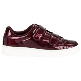 Red Fila Upstage Velcro Low Wmn