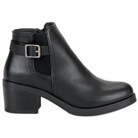 Anesia Paris black Comfortable Heels Pumps