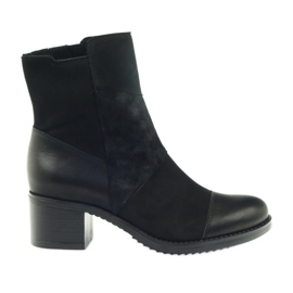 Black Marco winter boots high heels 933