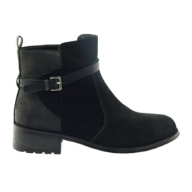 American Club American boots winter boots suede leather black