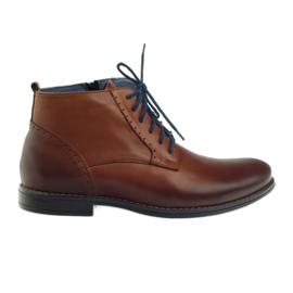 Brown Winter boots on zipper bronze Nikopol 677