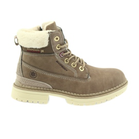 American Club brown American boots bootees winter boots 708122