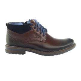 Brown men's shoes Nikopol 686