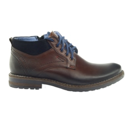 Brown men's shoes Nikopol 686