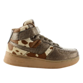 Brown Children's sports shoes insulated k1646103 Bronce