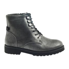 Antique silver boots Sergio Leone 723 grey