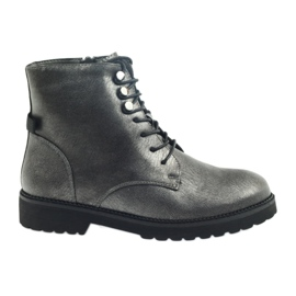 Grey Antique silver boots Sergio Leone 723