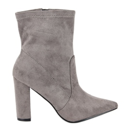 Seastar Gray Suede Booties grey