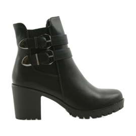 Booties with Filippo 517 buckles black