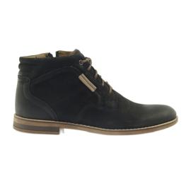 Black Riko boots jockies men's shoes on the zipper