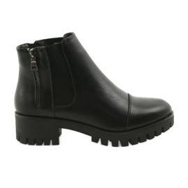 Black Female winter boots Daszyński MR1813