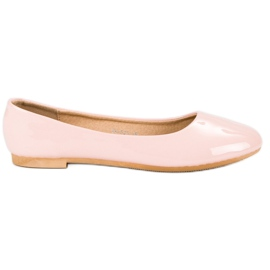 Top Shoes Lacquered ballerinas pink