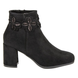 Kylie Suede Black Booties