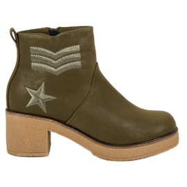 Kylie Military Women Boots green