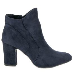 Kylie Elegant Suede Booties blue