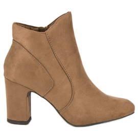 Kylie Elegant Suede Booties brown